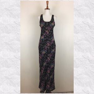 Band Of Gypsies Floral Scoop Neck Maxi Dress